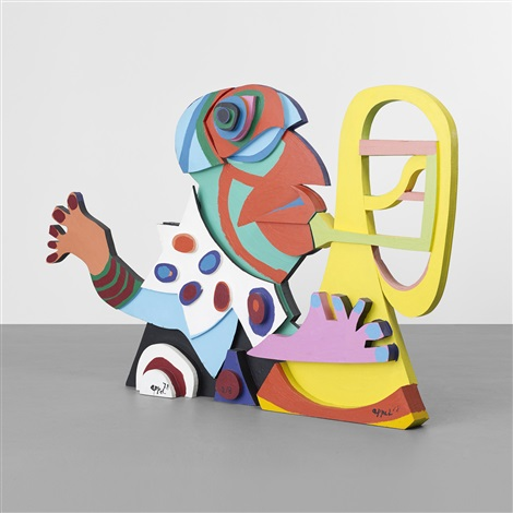 amsterdam clown from circus series by karel appel