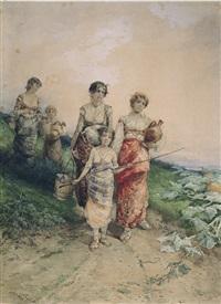 giovane contadina by leopoldina borzino