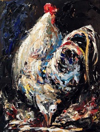 cockerel by lorna miller