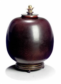 lidded vase by kresten bloch and knud andersen