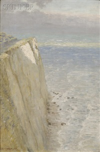 chalk cliffs, the isle of wight by anna richards brewster