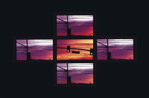 lighttrain in 5 parts by doug aitken