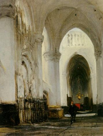 The interior of a church in Breda by Johannes Bosboom on artnet