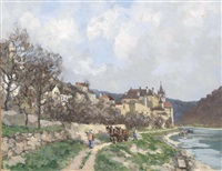 dürnstein, am donauufer by desiderius fangh