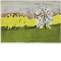sketch for book jacket: hymn to life by james schuyler by fairfield porter