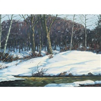 winter landscape by lorne kidd smith