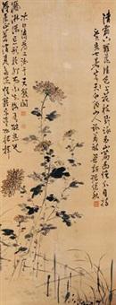篱下菊 by chu jianqiu