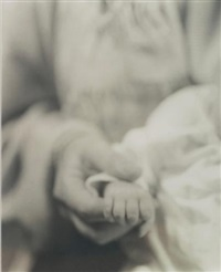 untitled (mother holding baby's hand) by jan groover