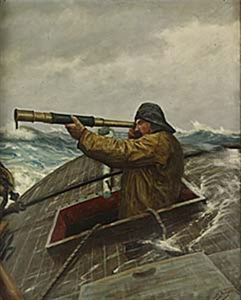 sjöman med kikare by zackarais martin aagaard