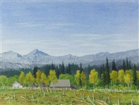 foothills farm & kananaskis range by j. stanford perrott