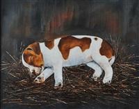 puppy sleeping by michael smyth