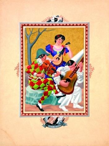 Colombine, arlequin et pierrot by Gino Severini on artnet
