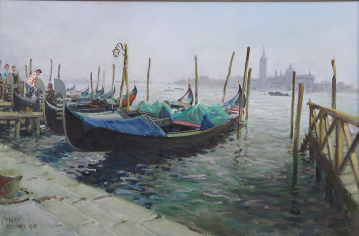 venetian gondolas by terence cuneo