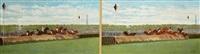 le saut de haie au steeple chase, auteuil by jules vittaly