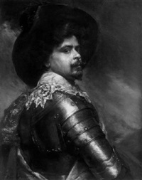 portrait of a cavalier by leon leguluard