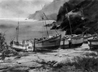 pen berth cove, cornwall by marshall w. joyce