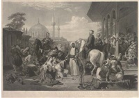 the slave market, constantinople (by c.g. lewis and w. giller) by sir william allan