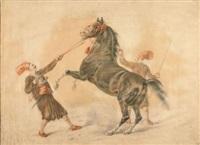 der wilde araber-hengst by carl adolf heinrich hess