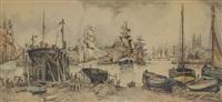chantier naval et port de honfleur by frank-will