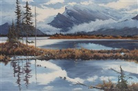 morning mood, mt. rundle by gordon rauch