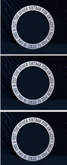 in one end (entrar por un lado) by lawrence weiner