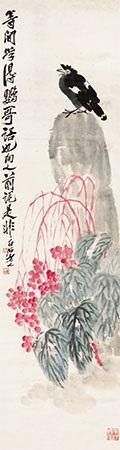 海棠八哥 by qi baishi