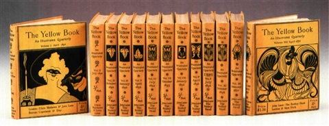 the yellow book an illustrated quarterly 13 bks w works text by henry james max beerbohm et al 8vo by aubrey vincent beardsley