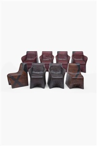 ensemble de six fauteuils et deux chaises (set of 8) by jean nouvel