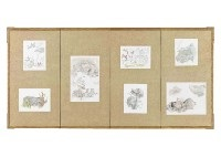 garden (byobu) (6 works) by keisuke serizawa