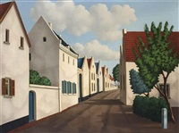 houses in a landscape by toon van den muysenberg