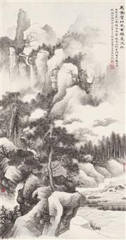 万壑松风 镜片 水墨纸本 ( landscape) by wu hufan