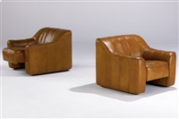club chairs with adjustable pull-out seats (pair) by modernage