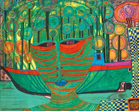 columbus landet in indien by friedensreich hundertwasser