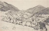 stanzer-thal b. pians. a. d. arlbergbahn by adolf fischer-gurig