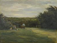 landschaft bei noordwijk - noordwijk-binnen (landscape near noordwijk) by max liebermann