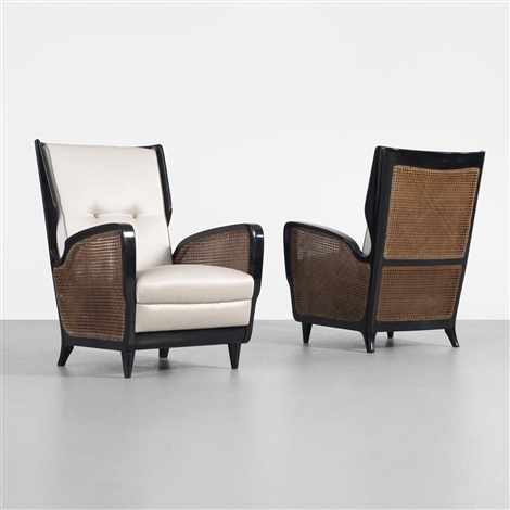 lounge chairs pair by gio ponti