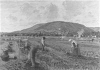 landschaft mit bauern bei der kartoffelernte by hans bührer