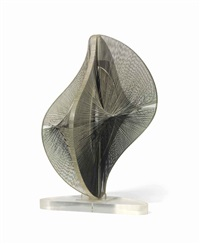 linear construction in space no. 2 by naum gabo