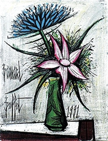 bouquet de fleurs dans un vase de galle by bernard buffet on artnet. Black Bedroom Furniture Sets. Home Design Ideas
