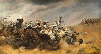 choc de cavalerie by aime nicolas morot