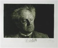 gerhart hauptmann (portfolio of 15) by ferdinand staeger