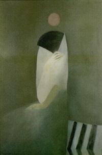 vrouw met waaier by boris semenov