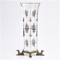 vase with floral decoration by baccarat