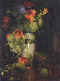 flowers in a vase by cowan dobson