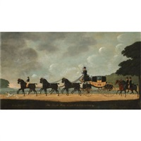 the coach and horses of george james, earl of cholmondeley (1749-1827) by john cordrey