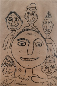 six personnages by gaston chaissac