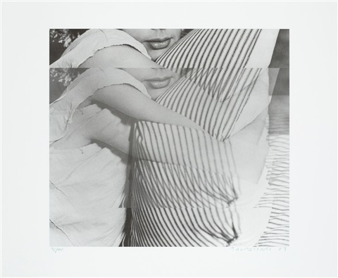 woman with pillow from bam photography portfolio ii by john baldessari