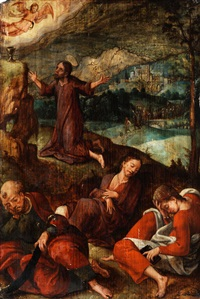 jesus am ölberg by bernaert (barend) van orley