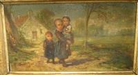 mère et ses deux enfants by elchanon verveer