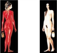 elisabetha (diptych) by dany leriche